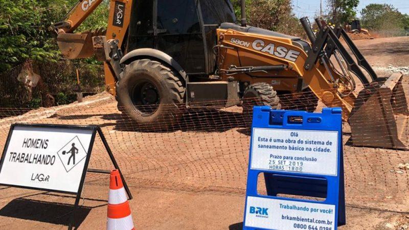 Ruas e avenidas serão interditadas para obras de saneamento em Gurupi na primeira semana de março