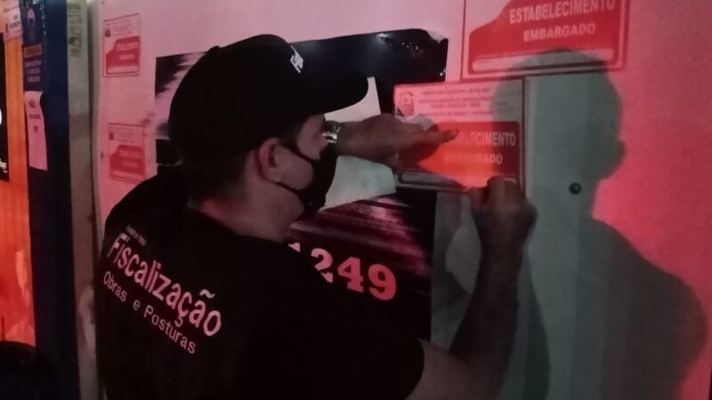 Em Palmas, fiscalização encerra festa clandestina e gerente de distribuidora de bebidas é levado para a delegacia