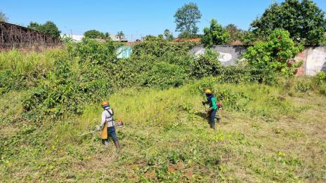 Limpeza de lotes baldios é iniciada em Araguaína e serviço será cobrado dos proprietários
